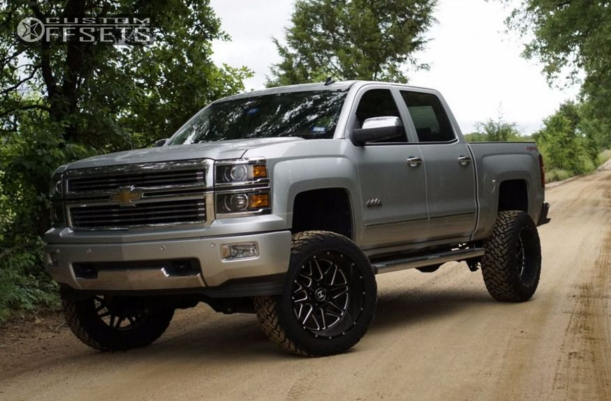 12 2014 Silverado 1500 Chevrolet Suspension Lift 6 Hostile Sprocket Black Aggressive 1 Outside Fender