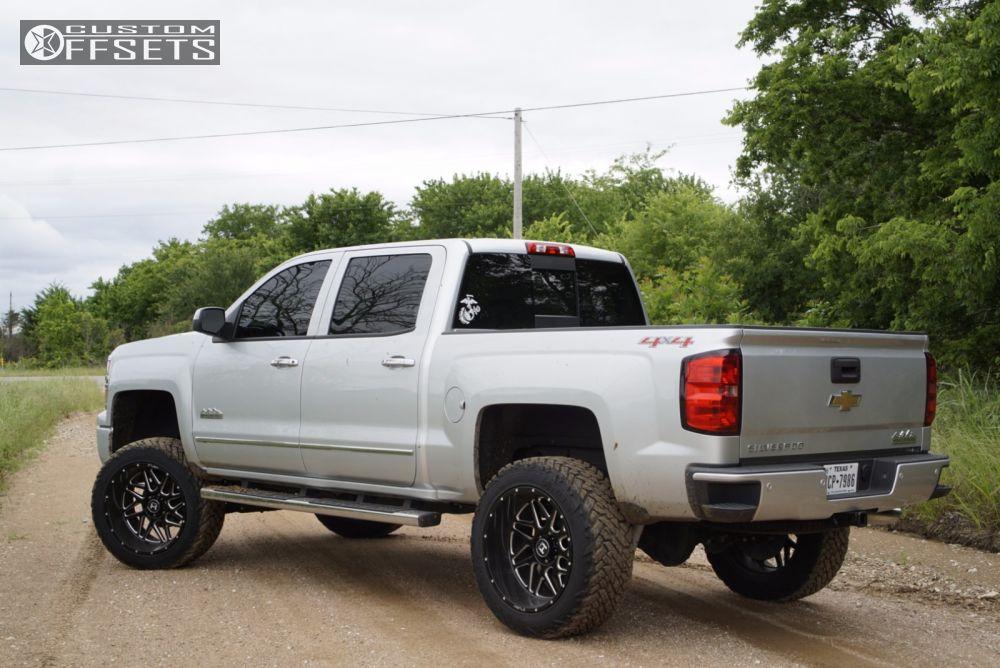13 2014 Silverado 1500 Chevrolet Suspension Lift 6 Hostile Sprocket Black Aggressive 1 Outside Fender