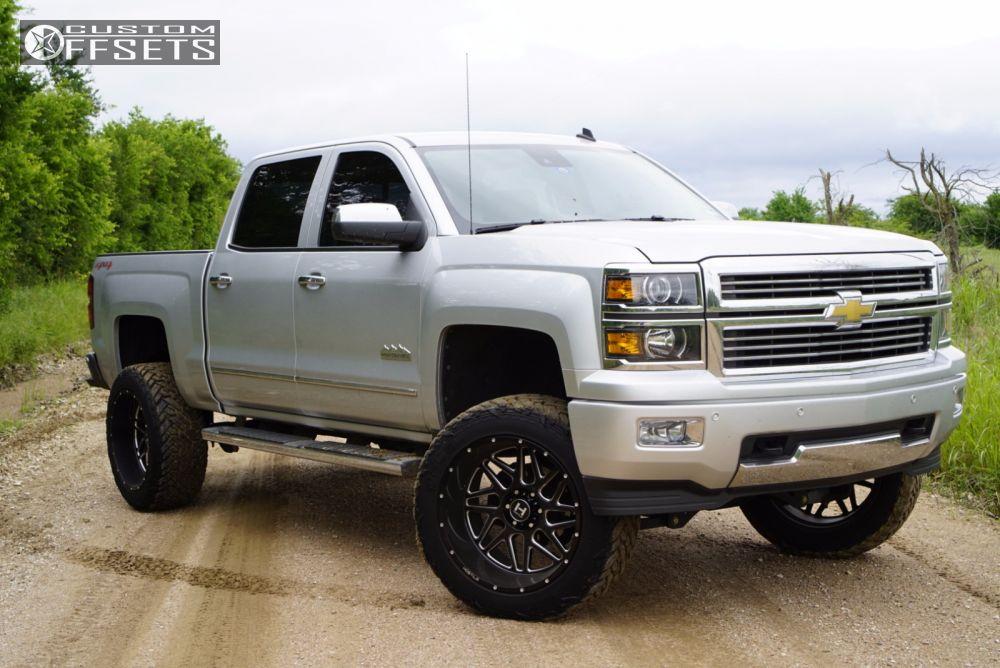 14 2014 Silverado 1500 Chevrolet Suspension Lift 6 Hostile Sprocket Black Aggressive 1 Outside Fender