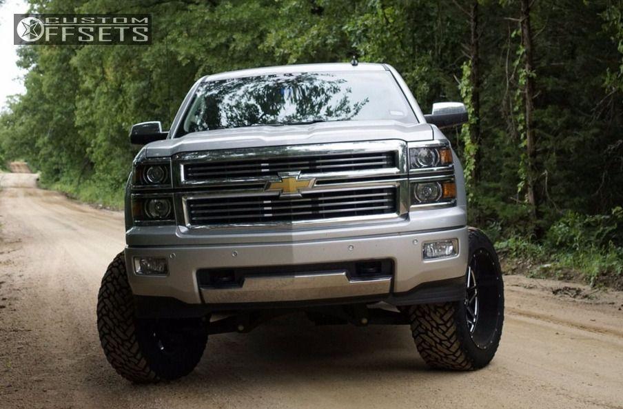 2 2014 Silverado 1500 Chevrolet Suspension Lift 6 Hostile Sprocket Black Aggressive 1 Outside Fender