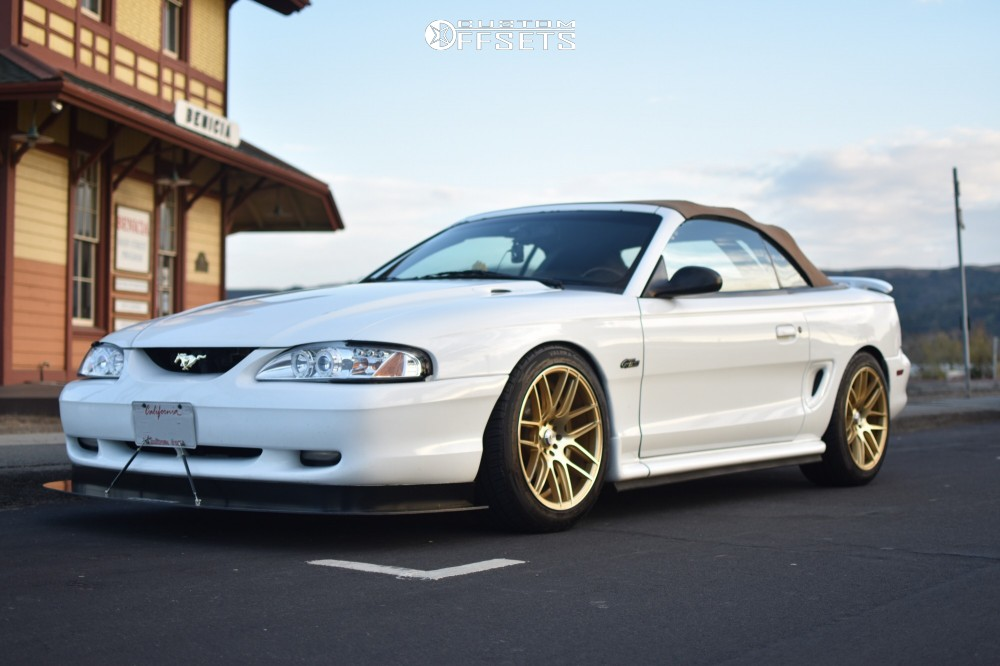 1998 ford mustang f1r f18 raceland coilovers custom offsets rh customwheeloffset com