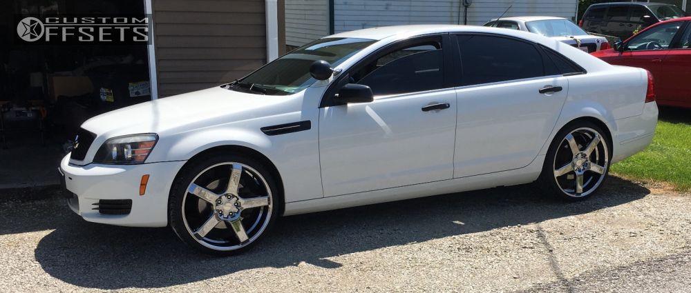 Wheel Offset 2011 Chevrolet Caprice Nearly Flush Stock Custom Rims