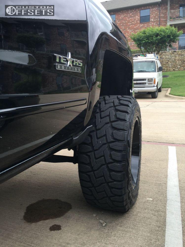 10 2015 Silverado 1500 Chevrolet Suspension Lift 8 Hostile Sprocket Machined Black Super Aggressive 3 5