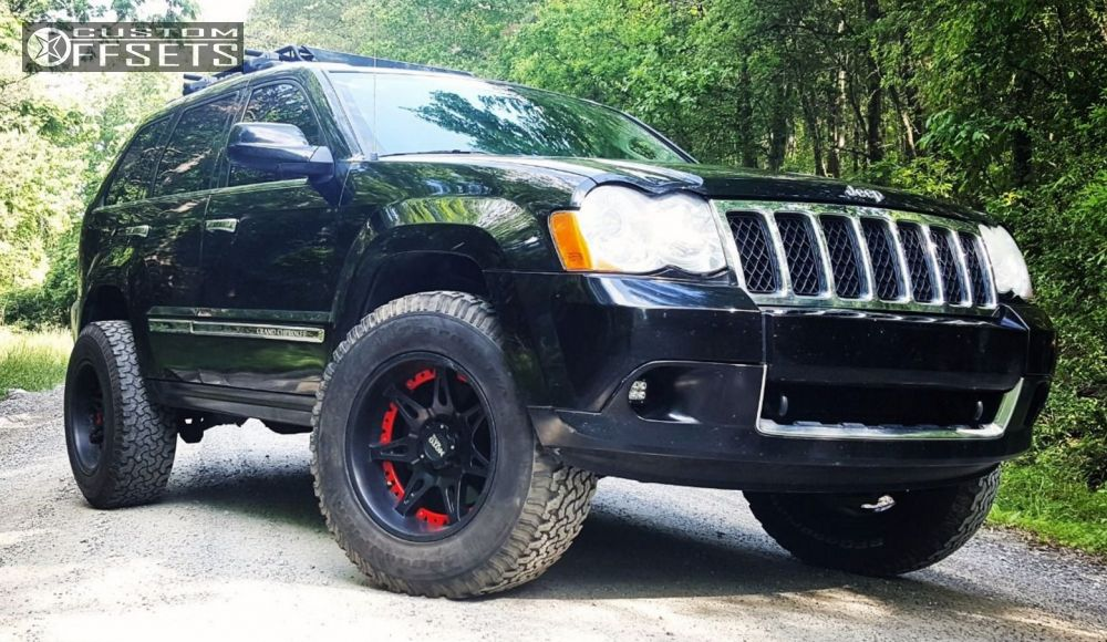 Wheel Offset 2009 Jeep Grand Cherokee Aggressive 1 Outside Fender Body Lift 3