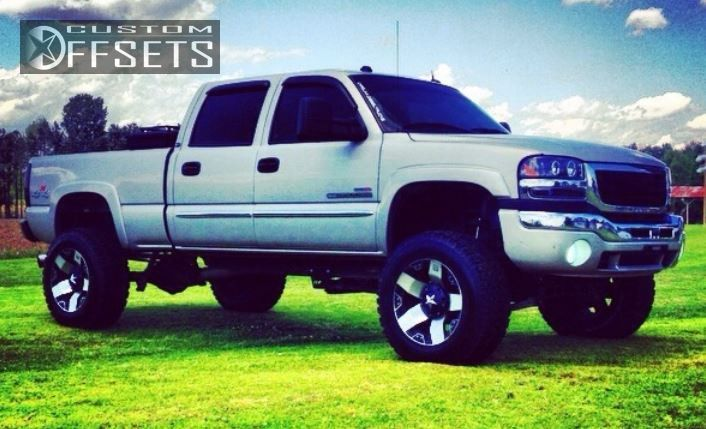 1 2004 Sierra 2500 Hd Gmc Suspension Lift 6 Kmc Rockstar Machined Accents Super Aggressive 3