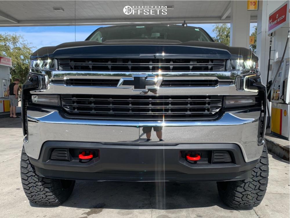 3 2019 Silverado 1500 Chevrolet Rough Country Suspension Lift 6in Hardrock Affliction Xposed Black