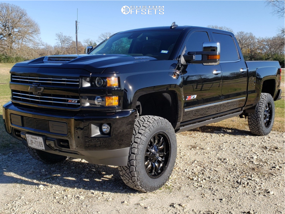 1 2019 Silverado 2500 Hd Chevrolet Bds Suspension Lift 45in Fuel Sledge Black