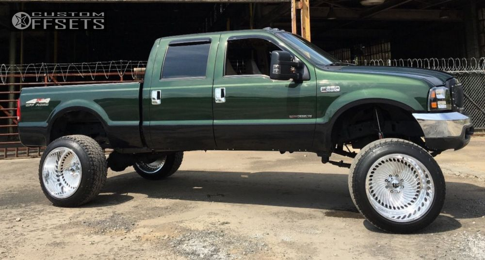 1 1999 F 250 Super Duty Ford Suspension Lift 8 Fuel F01 Polished Hella Stance 5