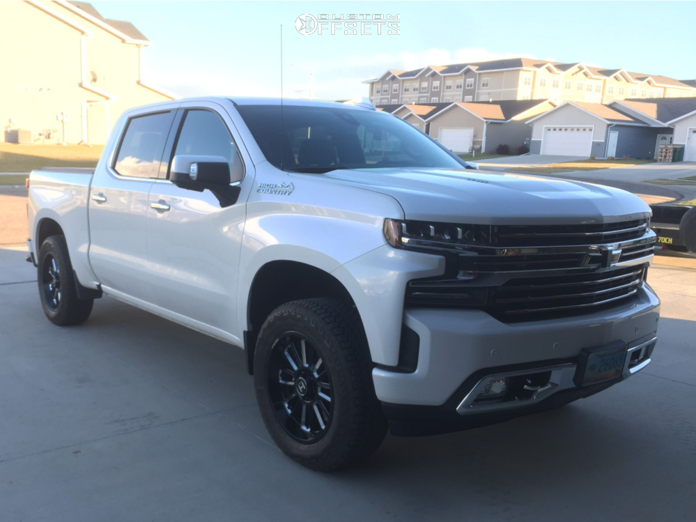 1 2019 Silverado 1500 Chevrolet Readylift Leveling Kit Hostile Predator Machined Black