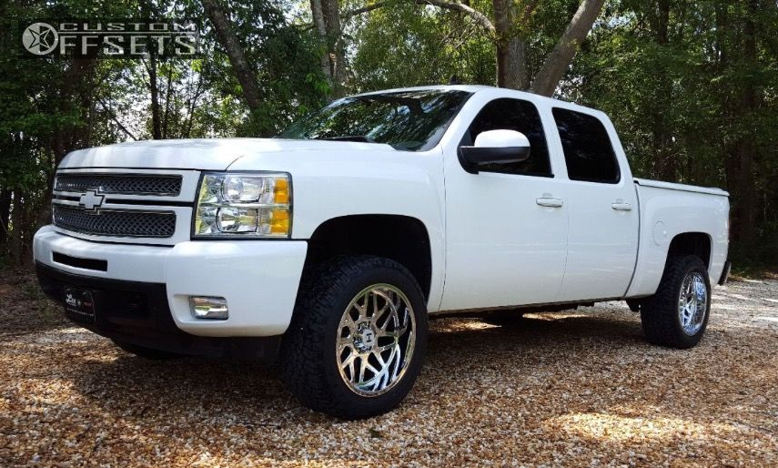 1 2012 Silverado 1500 Chevrolet Leveling Kit Hostile Sprocket Chrome Aggressive 1 Outside Fender