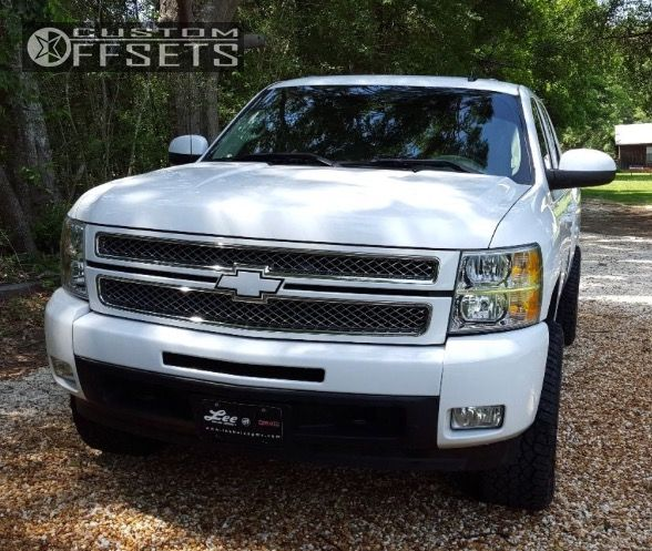 2 2012 Silverado 1500 Chevrolet Leveling Kit Hostile Sprocket Chrome Aggressive 1 Outside Fender