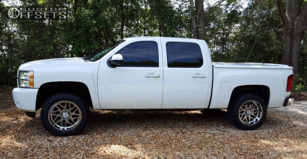 3 2012 Silverado 1500 Chevrolet Leveling Kit Hostile Sprocket Chrome Aggressive 1 Outside Fender