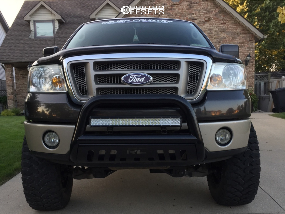 2 2007 F 150 Ford Rough Country Suspension Lift 6in Fuel Krank Machined Black