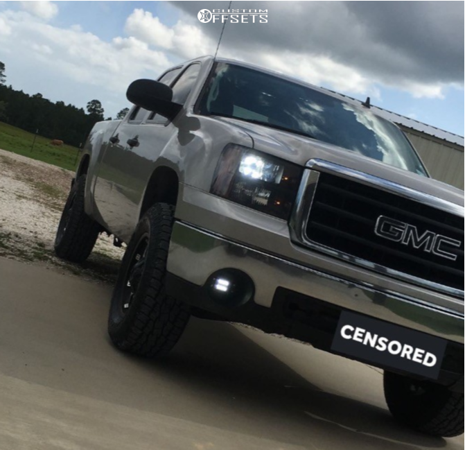 2 2008 Sierra 1500 Gmc Stock Leveling Kit American Outlaw Deputy Machined Accents