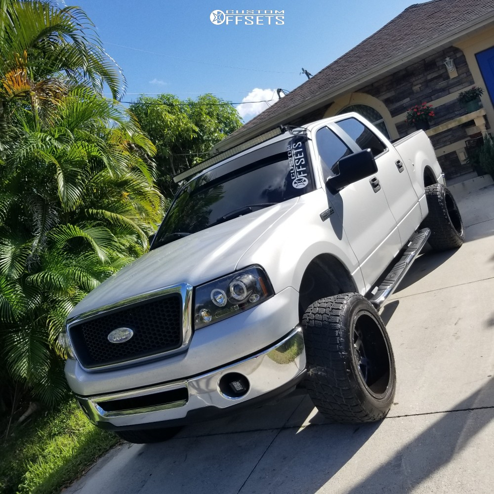 1 2007 F 150 Ford Rough Country Suspension Lift 6in Gear Alloy Big Block Black