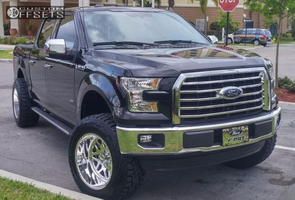 1 2015 F 150 Ford Suspension Lift 6 American Force 1 Polished Aggressive 1 Outside Fender