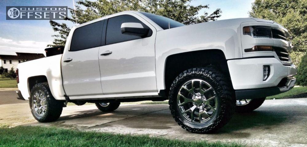 1 2016 Silverado 1500 Chevrolet Leveling Kit Replica G04 Chrome Flush