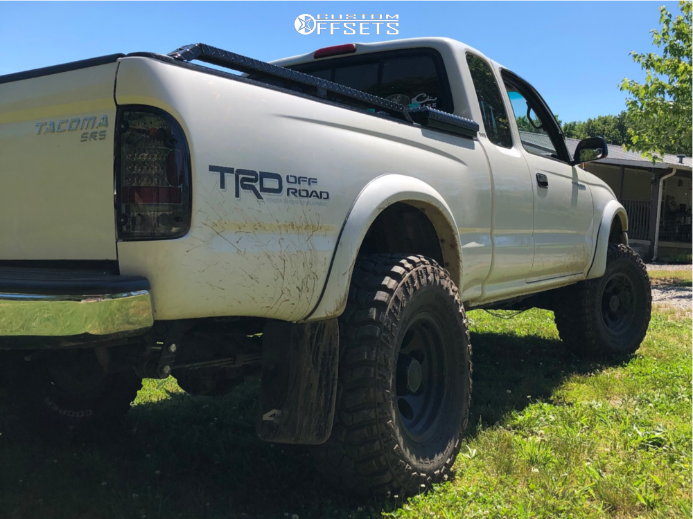 """1999 Toyota Tacoma Slightly Aggressive on 15x8 -27 offset Alloy Ion Style 171 and 32""""x11.5"""" Cooper Discoverer Stt Pro on Suspension Lift 2.5"""" - Custom Offsets Gallery"""