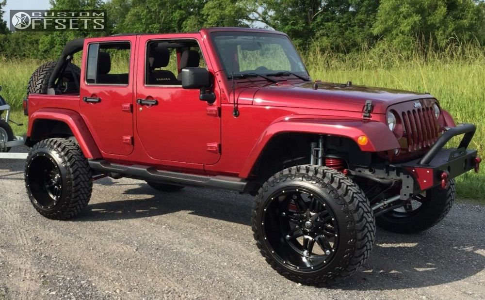 Aev Dualsport Rs 3 5 Inch Suspension Lift >> Wheel Offset 2013 Jeep Wrangler Super Aggressive 3 5 Suspension Lift 45 Custom Rims