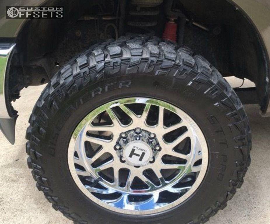 8 2015 F 250 Super Duty Ford Leveling Kit Hostile Sprocket Chrome Aggressive 1 Outside Fender