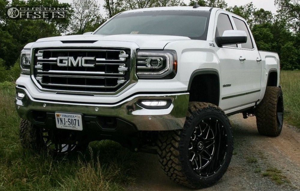 1 2016 Sierra 1500 Gmc Suspension Lift 8 Hostile Sprocket Machined Accents Super Aggressive 3 5