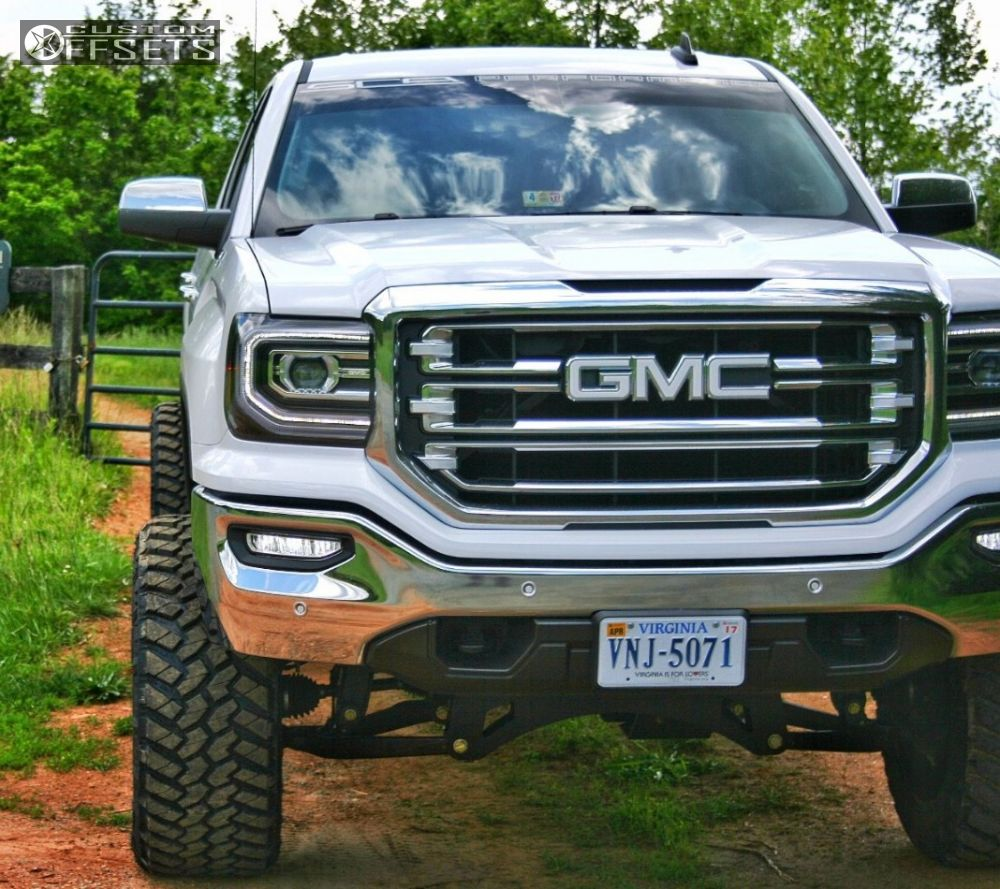 12 2016 Sierra 1500 Gmc Suspension Lift 8 Hostile Sprocket Machined Accents Super Aggressive 3 5