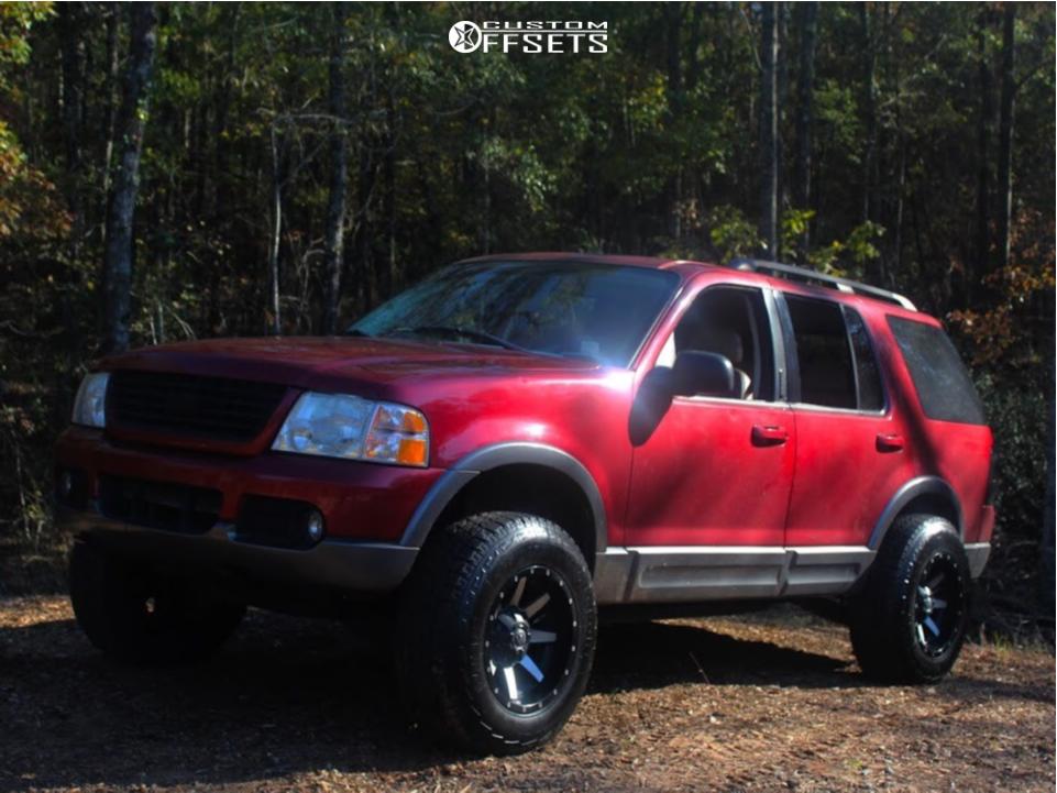 2003 Ford Explorer Fuel Maverick D537 Btf Fabrication Suspension Lift 3 Custom Offsets