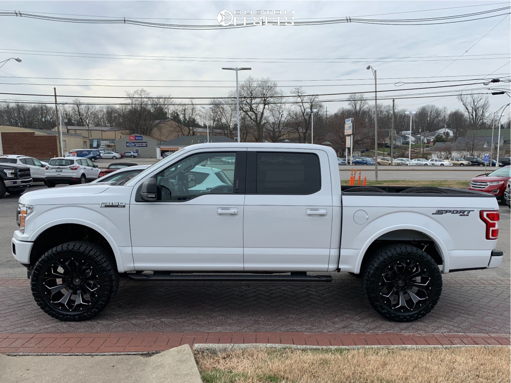 1 2018 F 150 Ford Fabtech Suspension Lift 4in Fuel Assault Black
