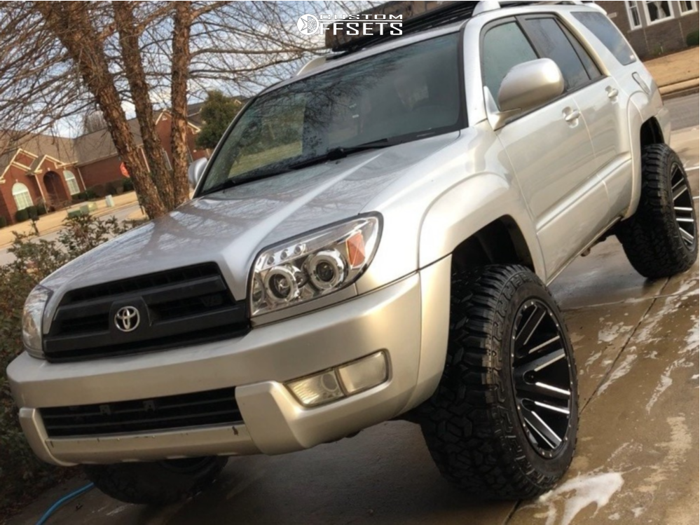 8352c7e6824 ... 1 2004 4runner Toyota Rough Country Suspension Lift 3in Moto Metal  Razor Black