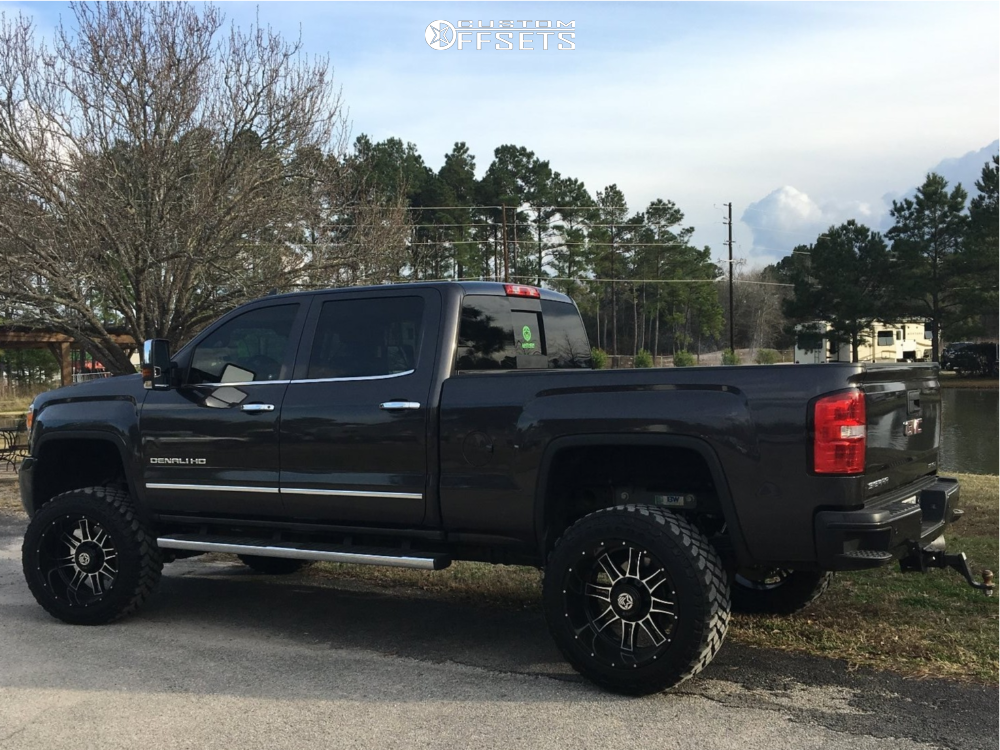 1 2016 Sierra 2500 Hd Gmc Rough Country Suspension Lift 5in Anthem Instigator Black Milled