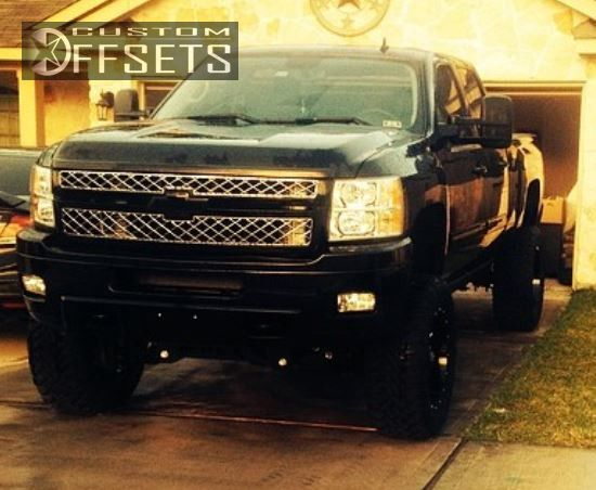 7 2014 Silverado 2500 Hd Chevrolet Suspension Lift 75 Gear Alloy 726 Black Super Aggressive 3
