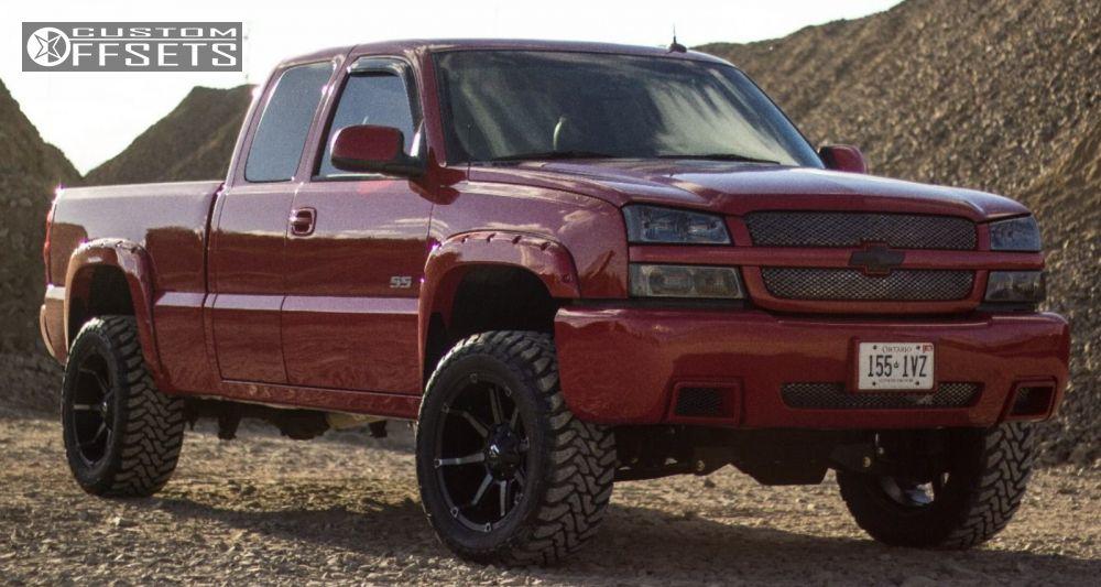 1 2003 Silverado 1500 Chevrolet Suspension Lift 45 Fuel Coupler Black Aggressive 1 Outside Fender