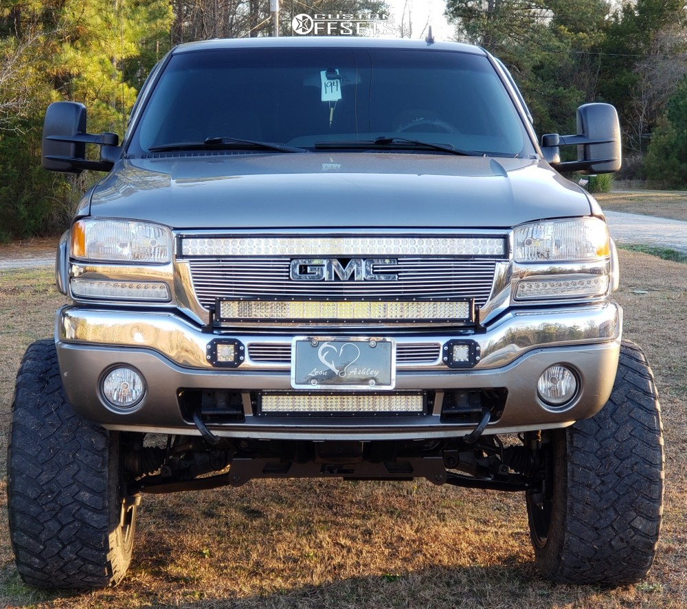 2 2006 Sierra 1500 Gmc Rough Country Suspension Lift 6in Body 3in Fuel Maverick D538 Matte Black