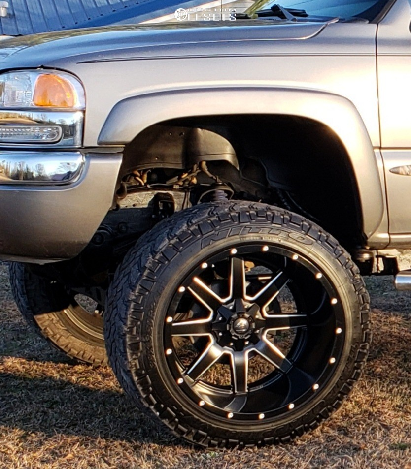 8 2006 Sierra 1500 Gmc Rough Country Suspension Lift 6in Body 3in Fuel Maverick D538 Matte Black