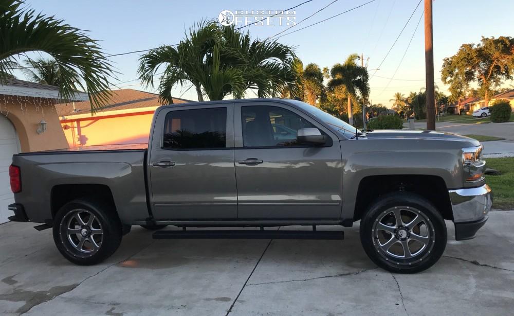 5 2017 Silverado 1500 Chevrolet Stock Stock Hostile Exile Gunmetal