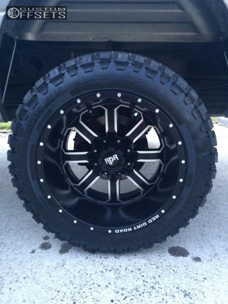 Silverado Chevrolet Suspension Lift Red Dirt Road Rd Black Machined Super Aggressive