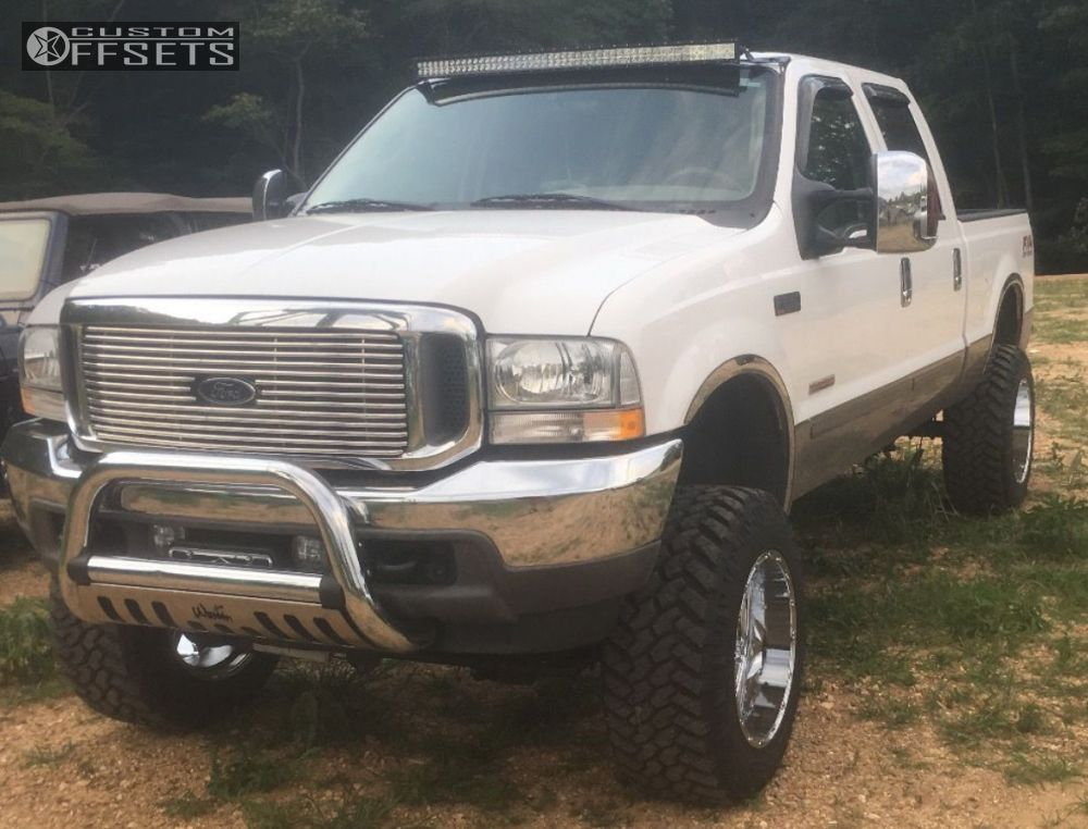 1 2003 F 250 Super Duty Ford Suspension Lift 6 Fuel Hostage Chrome Slightly Aggressive