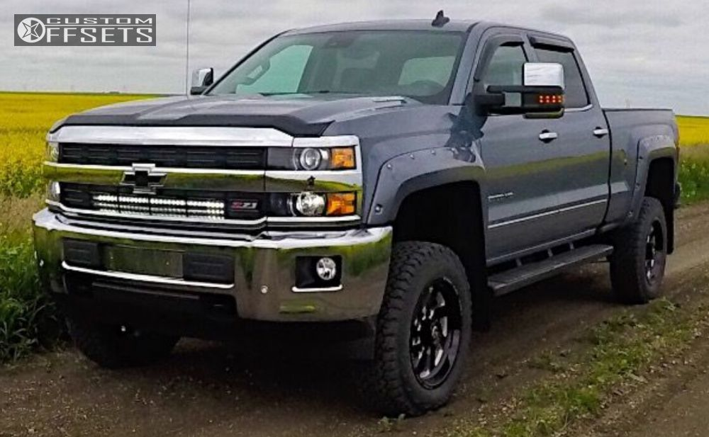 1 2016 Silverado 2500 Hd Chevrolet Suspension Lift 45 Fuel Turbo Machined Accents Flush