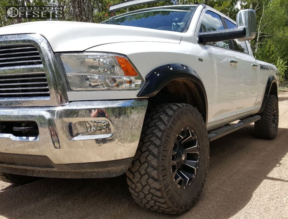 1 2012 3500 Ram Leveling Kit Fuel Assault Black Flush