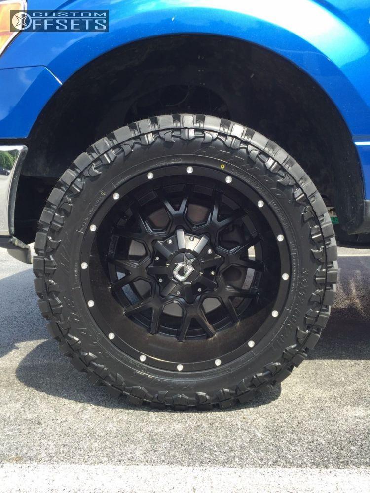 8 2013 F 150 Ford Leveling Kit Dropstars 645b Black Aggressive 1 Outside Fender