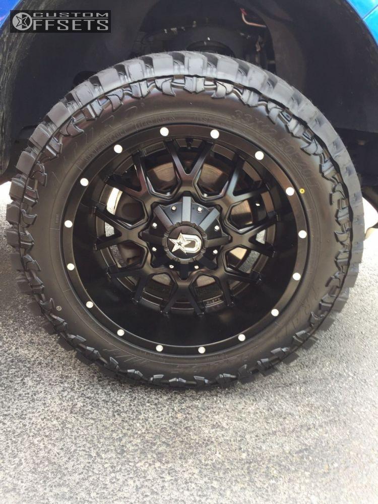 9 2013 F 150 Ford Leveling Kit Dropstars 645b Black Aggressive 1 Outside Fender