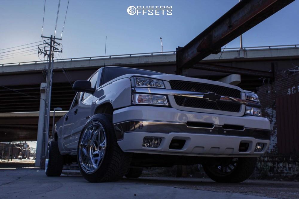 "2003 Chevrolet Silverado 2500 HD Classic Super Aggressive 3""-5"" on 22x12 -43 offset Fuel Triton and 305/40 Atturo Az800 on Lowered 2F / 4R - Custom Offsets Gallery"