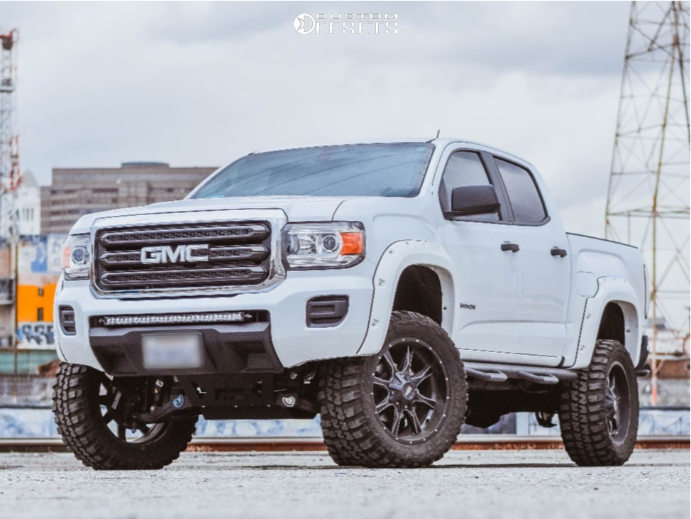 1 2017 Canyon Gmc Rough Country Suspension Lift 6in Moto Metal Mo970 Black