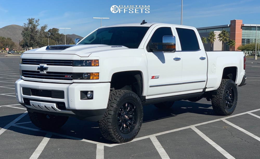 1 2019 Silverado 2500 Hd Chevrolet Bds Suspension Lift 45in Fuel Sledge Machined Black