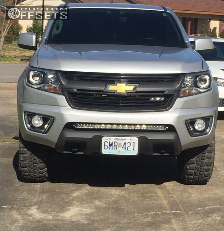 7 2015 Colorado Chevrolet Leveling Kit Moto Metal Mo970 Machined Black Hellaflush
