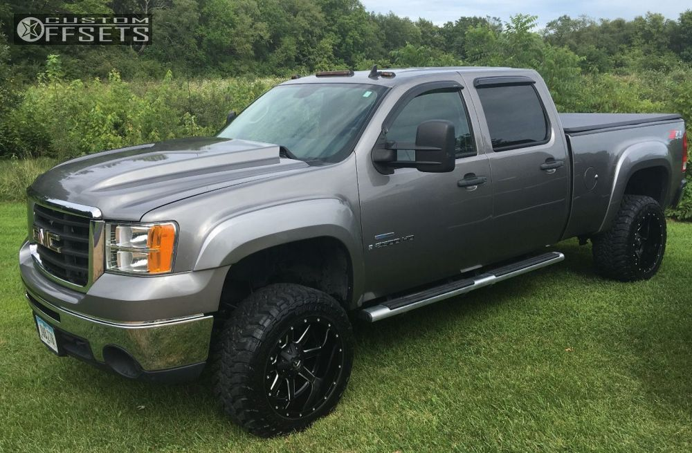1 2009 Sierra 2500 Hd Gmc Suspension Lift 3 Fuel Maverick Black