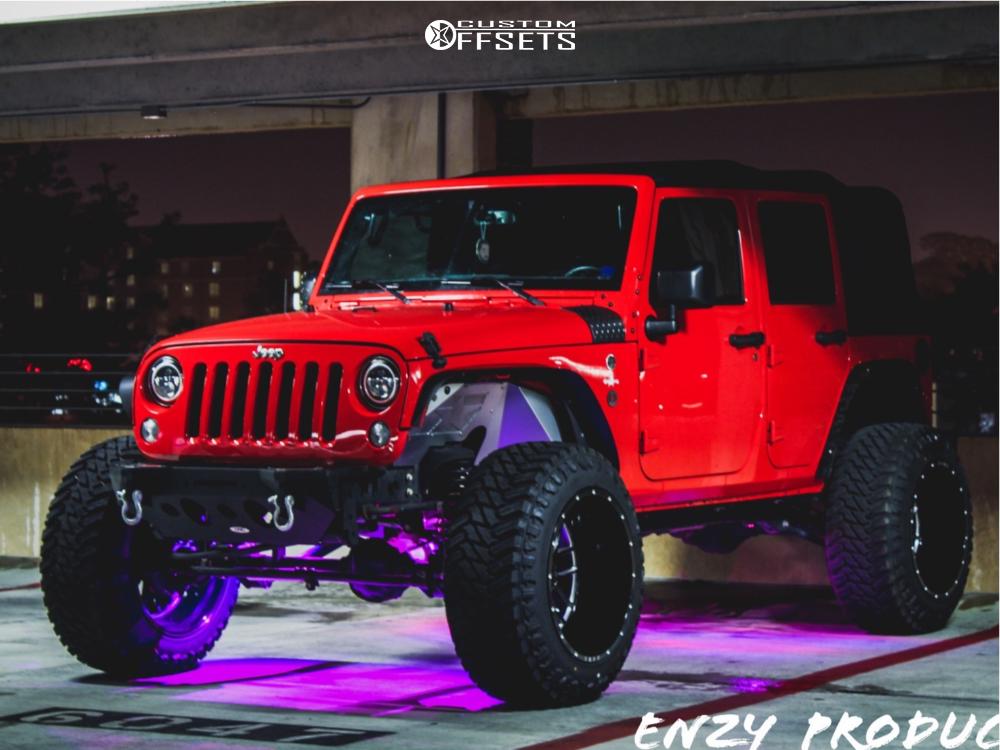 1 2017 Wrangler Jeep Pro Comp Suspension Lift 35in Tuff T23 Machined Black