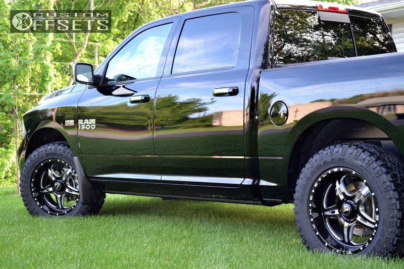 Wheel Offset 2014 Dodge Ram 1500 Slightly Aggressive Stock Custom Rims