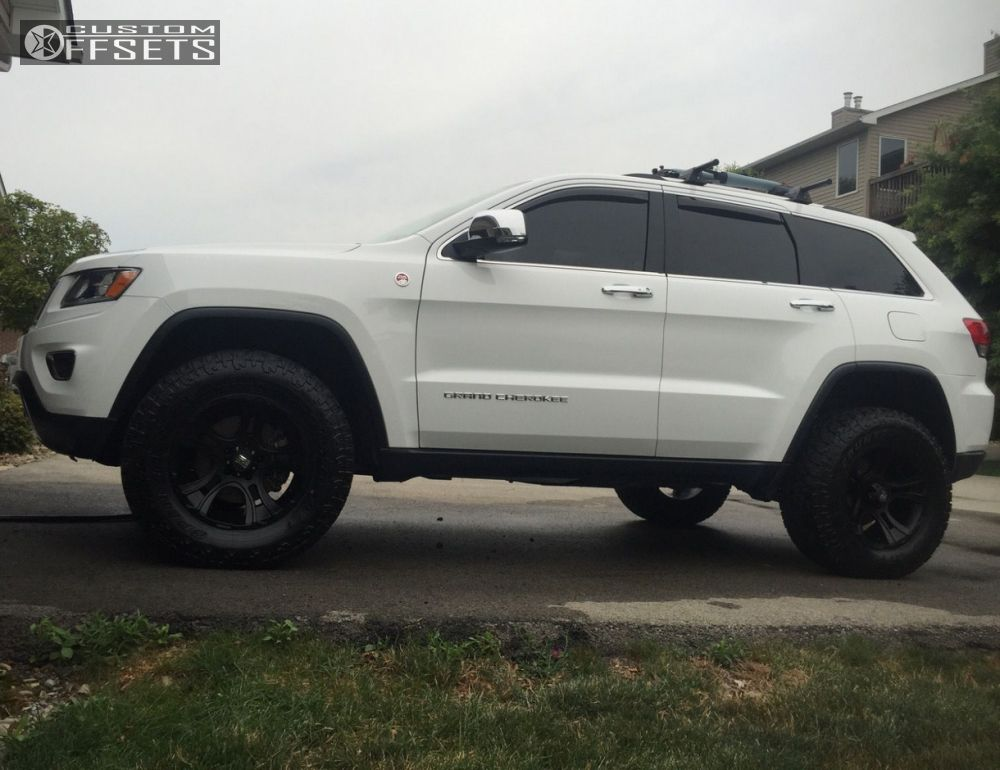 Nice ... 1 2015 Grand Cherokee Jeep Suspension Lift 3 Kmc Xd801 Black Aggressive  1 Outside Fender ...