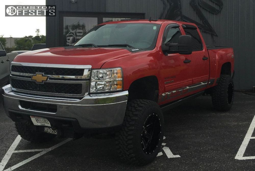 1 2011 Silverado 2500 Hd Chevrolet Suspension Lift 5 Ballistic Rage Black Aggressive 1 Outside Fender